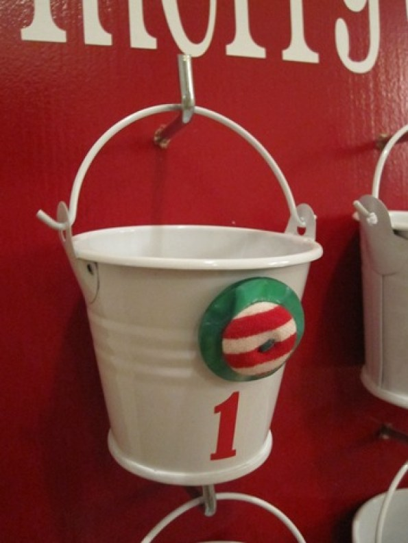 small bucket advent calendar