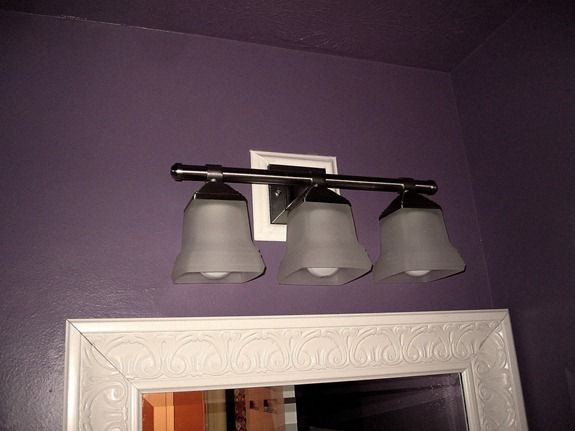 Bathroom Light Fixture Junction Box bathroom light fixture dilemma - infarrantly creative