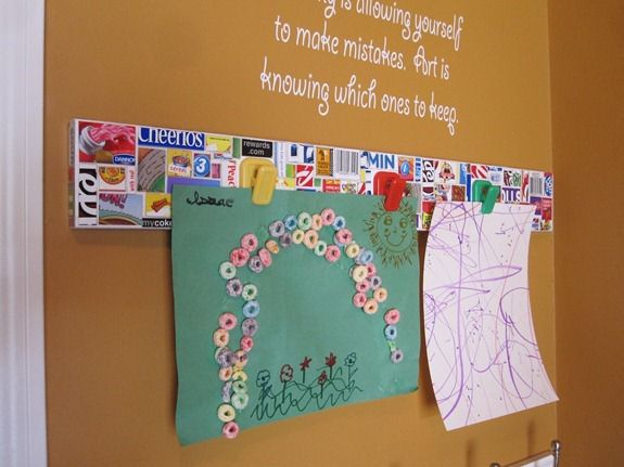 kids art display