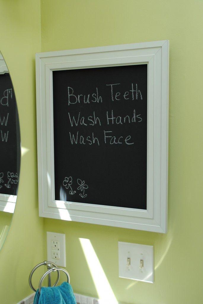 Chalkboard Medicine Cabinet