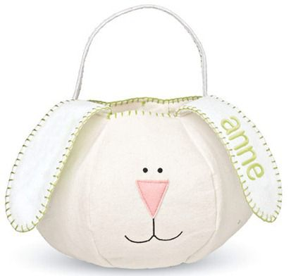 chasing fireflies personalized little bunny basket