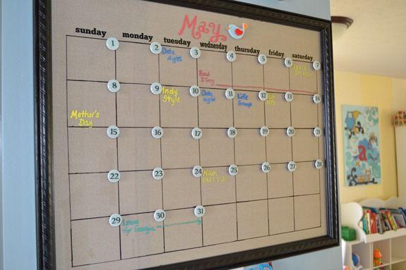Diy Magnetic Whiteboard Calendar : Calendar magnets infarrantly creative