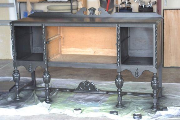 black antique sideboard (3)
