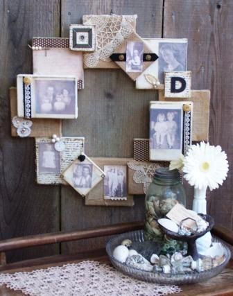canvas wreath display