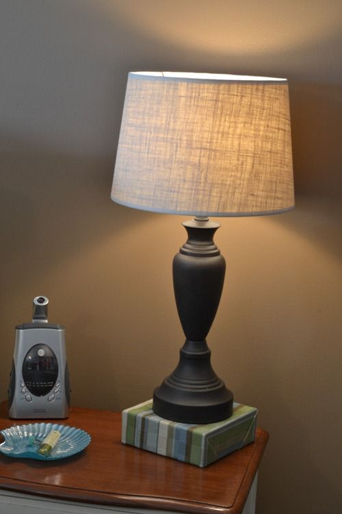 Simple burlap lampshade infarrantly creative burlap lampshade 1 mozeypictures Choice Image