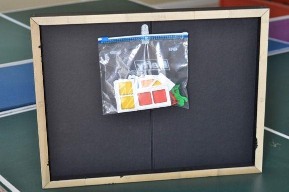 game board storage art diy
