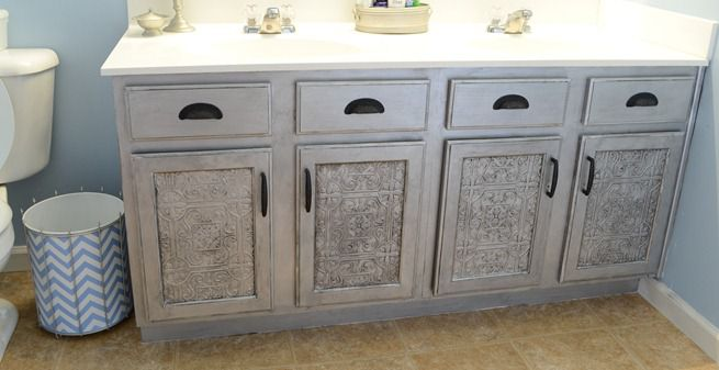 Faux Tin Tile Cabinets (3)