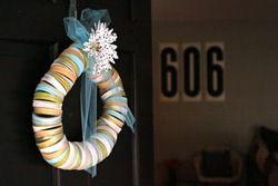 mason jar band wreath