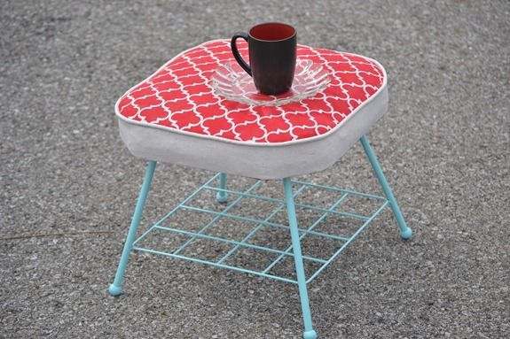 Stenciled Footstool (61)