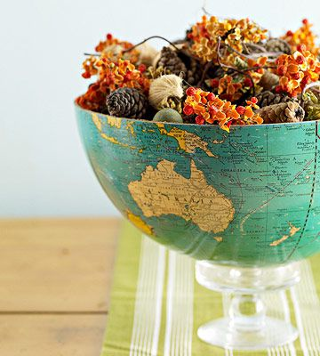 5 Ways to Upcycle Maps and Globes for Home Decor