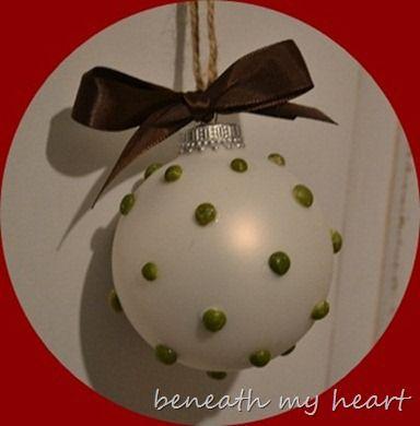 Dry Split Pea Ornaments