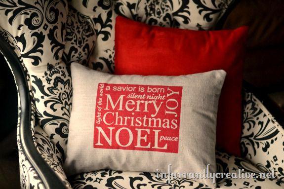 Christmas Subway Art Pillow