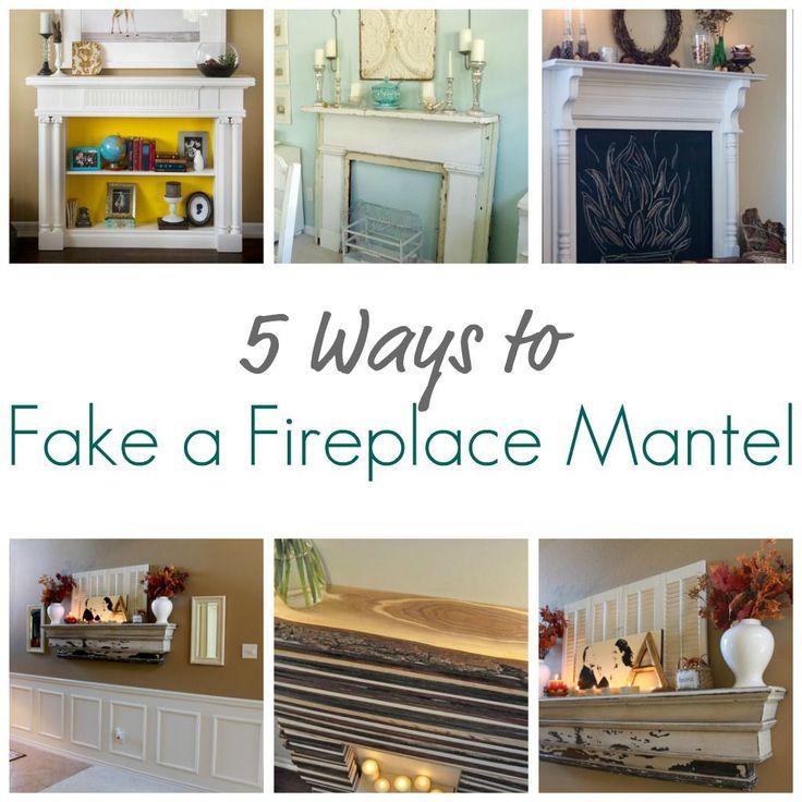5 Ways to Fake a Fireplace Mantel - Infarrantly Creative