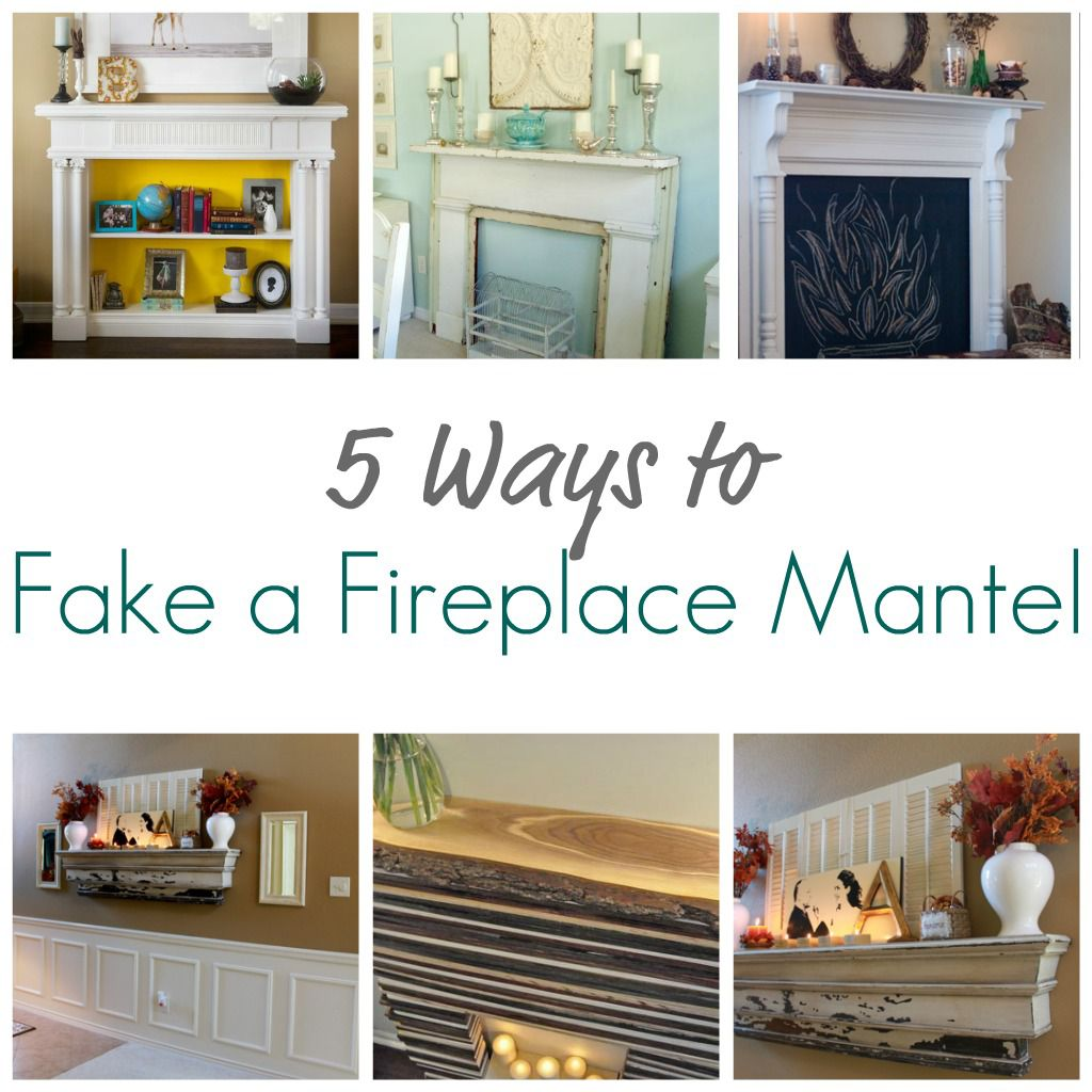 Fit Crafty Stylish And Happy Guest Bathroom Makeover: 5 Ways To Fake A Fireplace Mantel