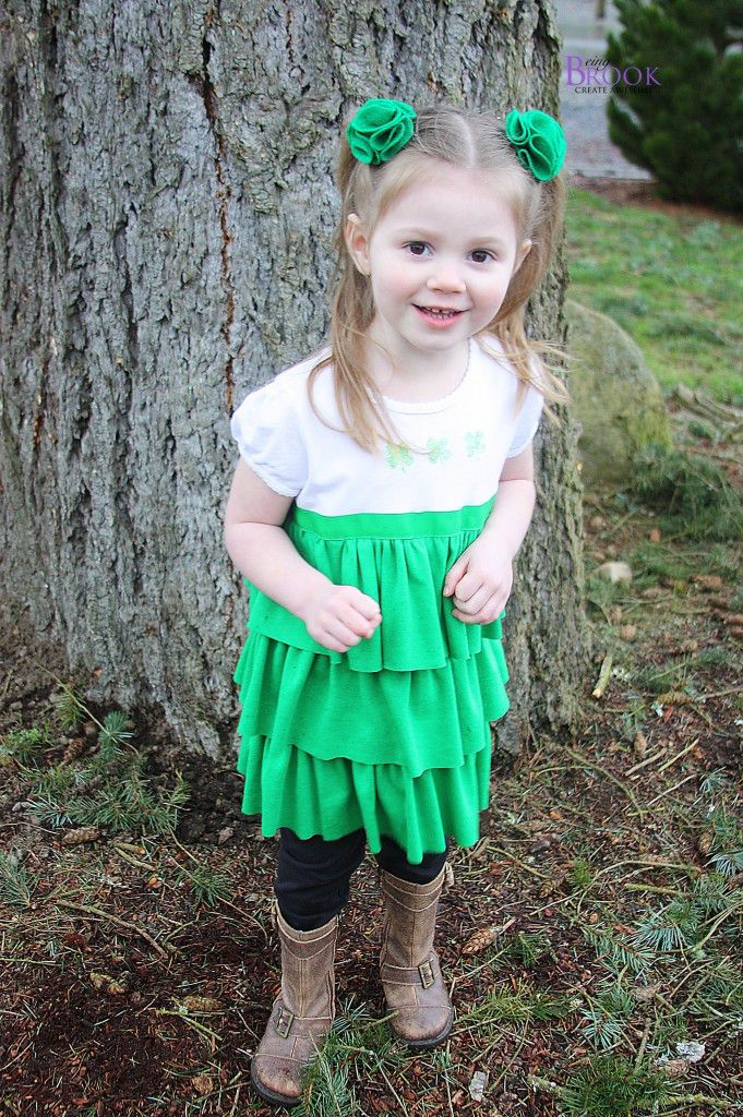 St. Patrick's Day Ruffled Shirt
