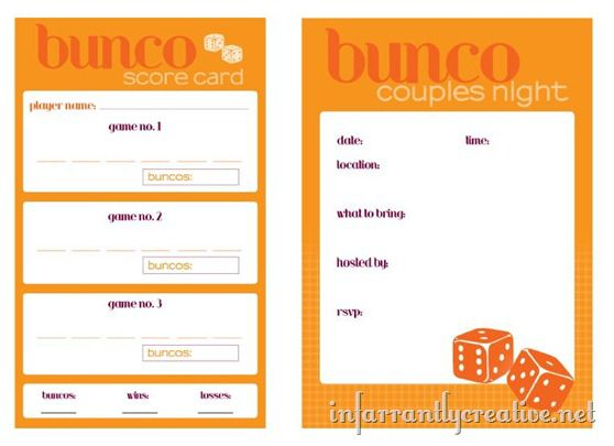 couples bunco