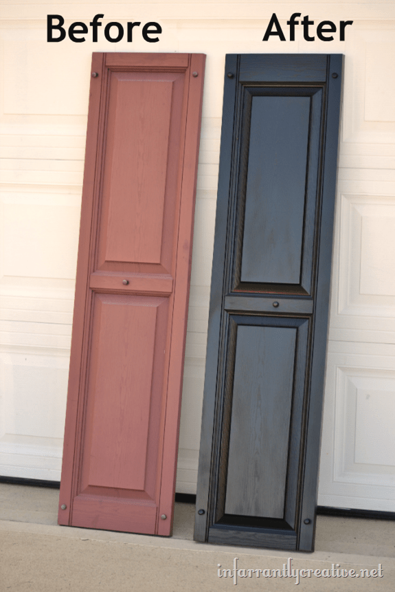 How To Paint Vinyl Shutters Infarrantly Creative