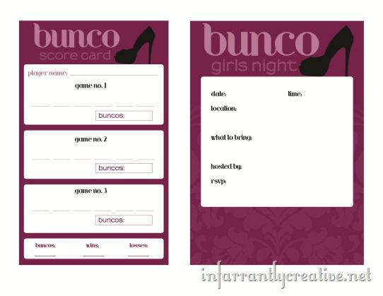 picture about Bunco Rules Printable named Bunco Printable - Infarrantly Resourceful
