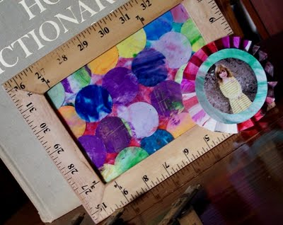 Displaying Kids Artwork {Ruler Frame Idea}