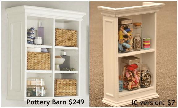 pottery barn newport wall cabinet