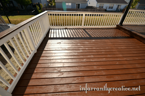 stained deck one coat