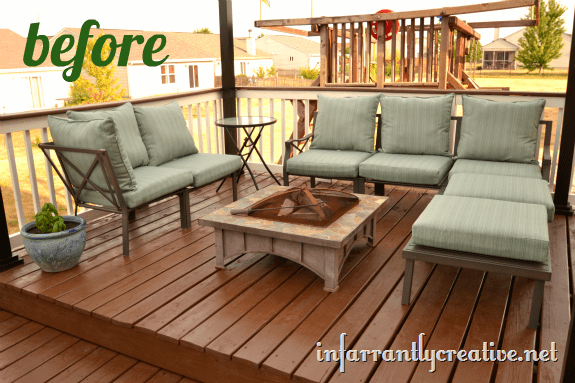 outdoor furniture area