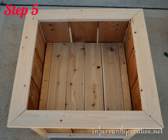 cedar and pine planter box