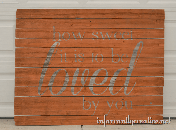 weathered wood sign