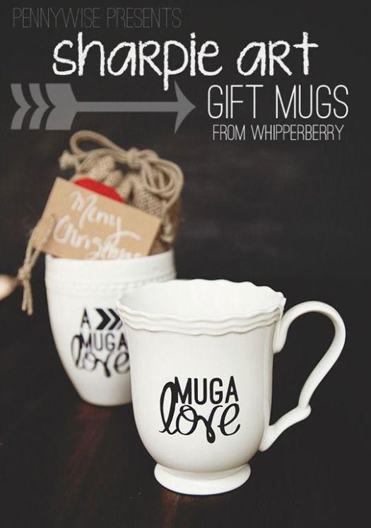 Sharpie Marker Gift Mugs