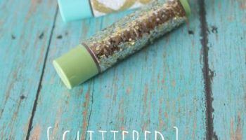 how to make glittered chapstick