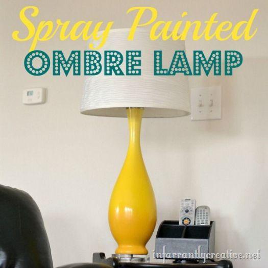 DIY Yellow Ombre Lamp