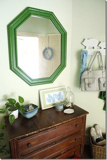 My Way Home green mirror