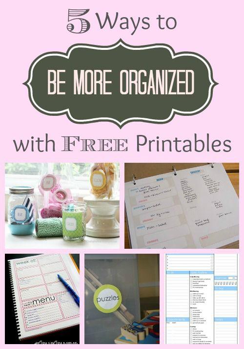 Printable Organizers pin pic