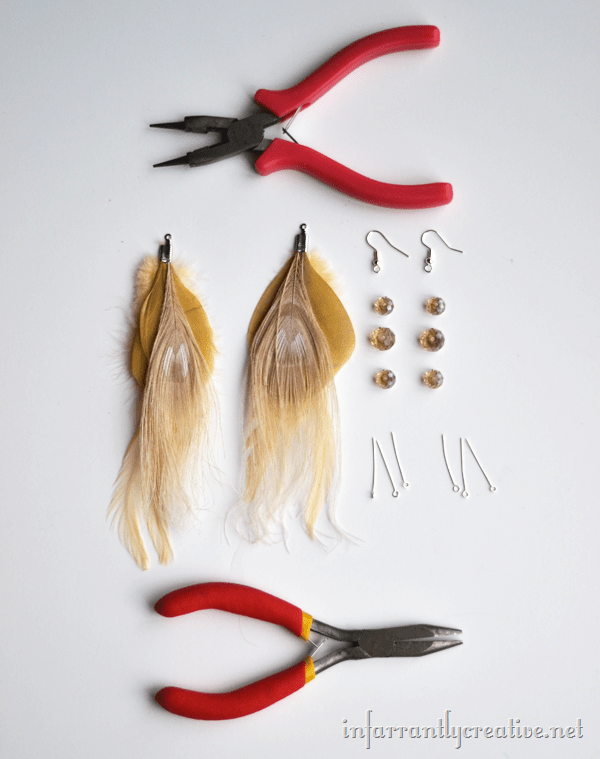 feather earring supplies