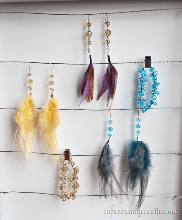 feather earrings how to