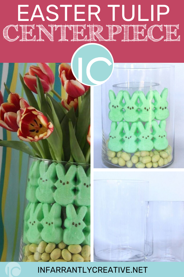 Easter Tulip DIY Centerpiece