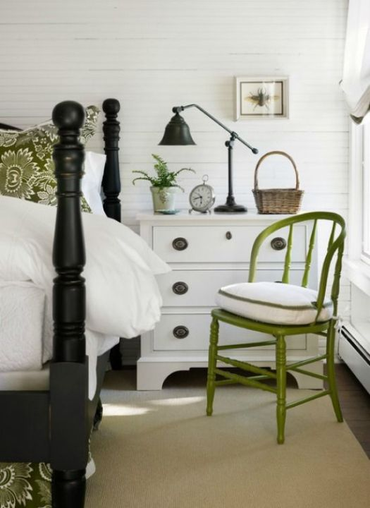 Green White Bedroom Inspiration