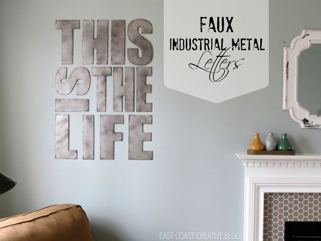Industrial Metal Letters {Faux Painting}