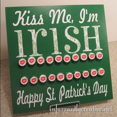 hershey kss saint patricks day board