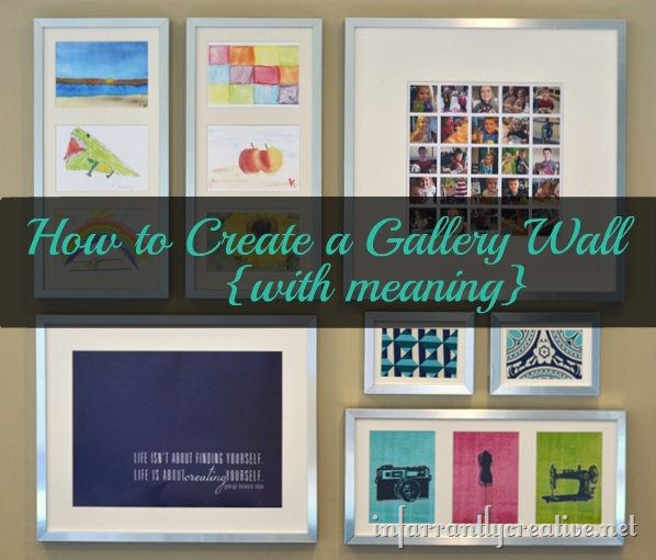 Inspirational While there are ways you can create a cohesive but eclectic look part of the fun of creating a gallery wall is uwell ucreating So I threw the rules out the