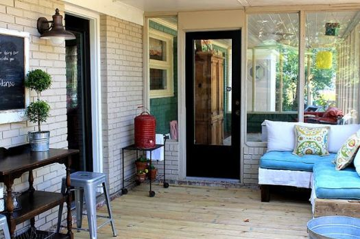 Accessorize and Organize porch sectional