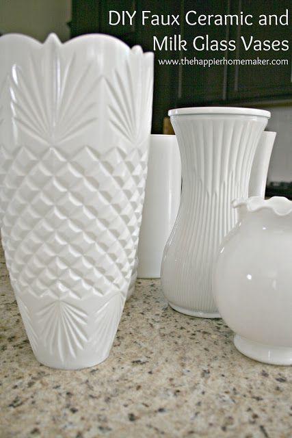 The Happier Homemaker faux milkglass vases