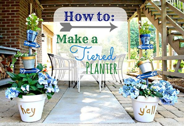 Make a Tiered Planter to Add Color to Your Outdoor Spaces