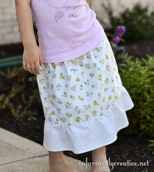 girl skirt tutorial