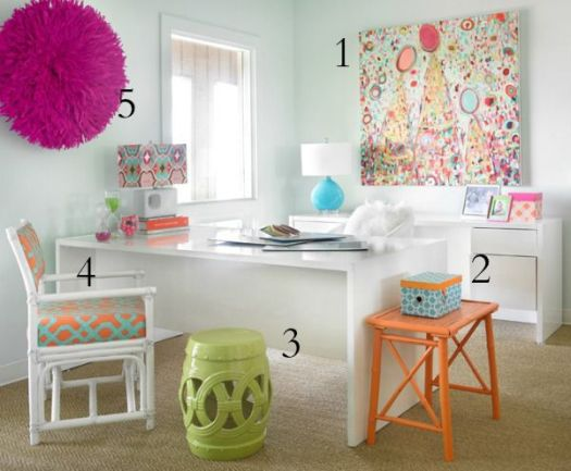 House of Turquoise office inspiration numbered