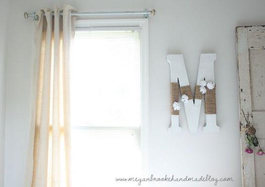 Megan Brooke Handmade dropcloth curtains