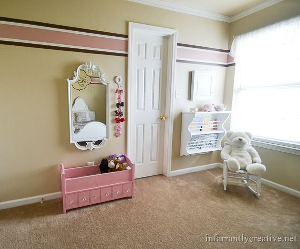 pink and brown girls bedroom