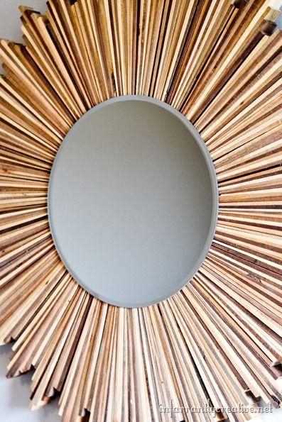 wood starburst mirror tutorial