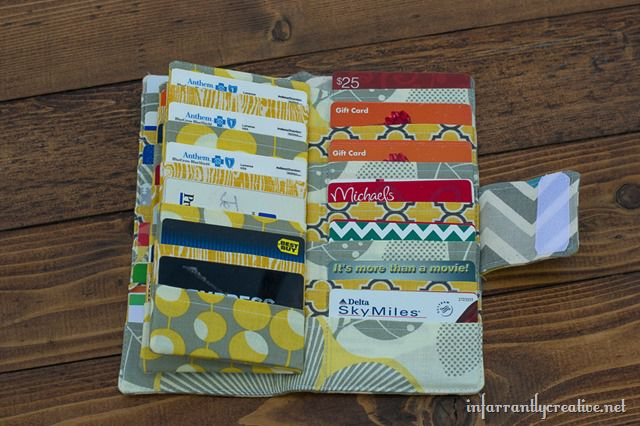 Credit card wallet sewing tutorial infarrantly creative business card wallet check out more sewing tutorial reheart Image collections
