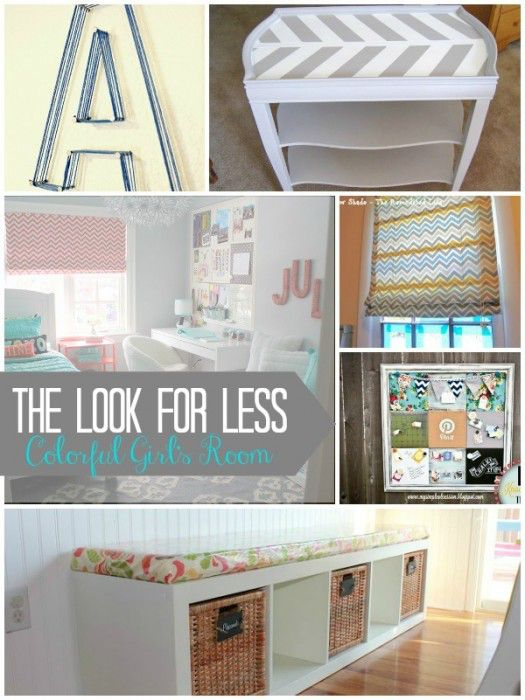 Girls Bedroom Look For Less Collage